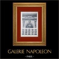 Château de Versailles - Le Grand Trianon - Trianon-sous-Bois - Baies - Mascarons | Héliogravure originale. Anonyme. 1911