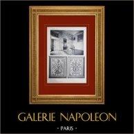Château de Versailles - Le Grand Trianon - Cabinet de travail   Héliogravure originale. Anonyme. 1911
