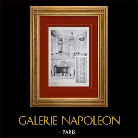 Château de Versailles - Le Grand Trianon - Salon Rond | Héliogravure originale. Anonyme. 1911