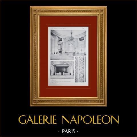 Slottet i Versailles - Le Grand Trianon - Salon Rond | Original heliogravyr sepia. Anonymt. 1911