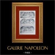 Schloss Versailles - Le Grand Trianon - Galerie - Bas-reliefs des arcatures