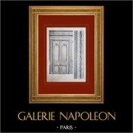 Château de Versailles - Le Grand Trianon - Porte d'une chapelle (ancienne salle du billard)