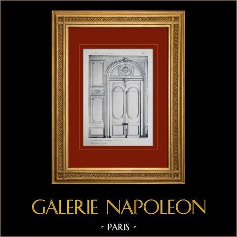 Pałac Wersalski - le Grand Trianon - Antichambre du roi - Grande Porte et Lambris |