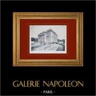 Château de Versailles - Le Petit Trianon - Façade sur la cour et sur le jardin français