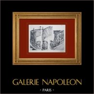 Slottet i Versailles - Le Petit Trianon - Grand escalier - Rampe