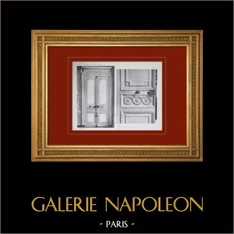 Pałac Wersalski - le Petit Trianon - Salon - Porte |