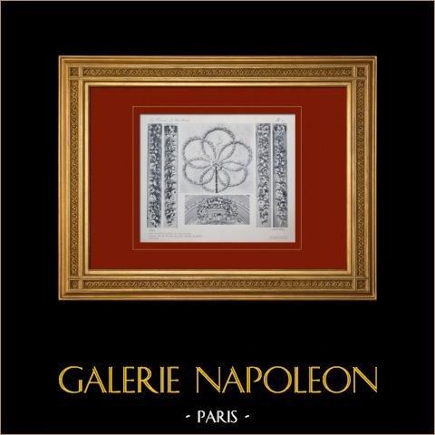 Pałac Wersalski - le Petit Trianon - Salon - Rosace - Guirlandy |