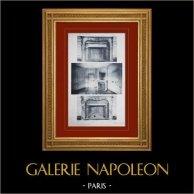 Slottet i Versailles - Le Petit Trianon - Petits Appartements du second étage - Cheminées