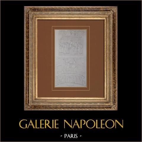 Livro de Capitoul (1500) - Tolosa - Idade Média (Cabinet de M. Bequillet) | Litografia original litografada por Villemin. 1833