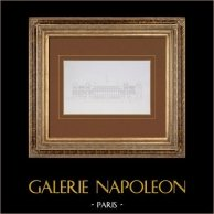 Ancien Hôtel de Ville de Paris - Salle des Élections - Galerie - Salon des Fêtes | Gravure originale en taille-douce sur acier. Anonyme. 1859
