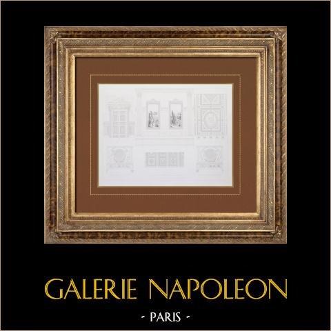 Zabytkowy Ratusz Paryż  - Dekoracja - Brama i Sufit - Rzeźby - Schody |