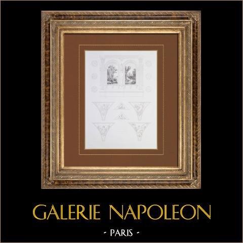 Antiek Parijs Gemeentehuis - Decoratie - Galleria van de eerste verdieping - Apartments van Feesten |