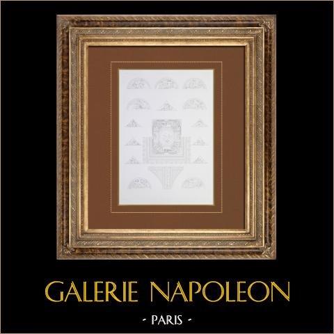 Antiek Parijs Gemeentehuis - Salle van kariatiden - Plafond - Schilderij - Cosse |