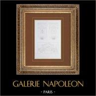 Ancien Hôtel de Ville de Paris - Décoration - Grands Appartements des Fêtes - Plafond - Cheminées - Napoléon Ier peint par Gérard