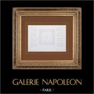 Antiguo Ayuntamiento de París - Decoración - Techo - Salón - Salon de la Paix (Eugène Delacroix) | Grabado original en talla dulce sobre acero dibujado por Roguet, grabado por Sellier. 1859