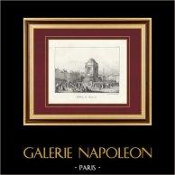 View of Paris - Halles - Fountain - Fontaine des Innocents (France)