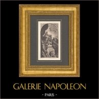 Peinture italienne - La Vierge et L'Enfant Jésus (Giambattista Tiepolo)   Typogravure originale d'après Giambattista Tiepolo. 1910