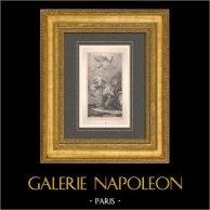 Italienische malerei - Skizze - Vision von Heilige Anna (Giambattista Tiepolo) | Original typogravure nach Giambattista Tiepolo. 1910