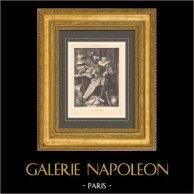 Peinture française - Don Quichotte (Henri Pille) | Phototypie originale d'après Henri Pille. 1880