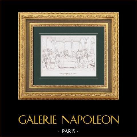 Trattato di Leoben (1797) - Napoleone Buonaparte - Stiria - Campo-Formio | Stampa calcografica originale a bulino su acciaio secondo Lethiers. 1876
