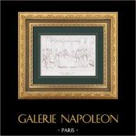 Traité de Leoben (17 avril 1797) - Napoléon Bonaparte - Styrie - Campo-Formio | Gravure originale en taille-douce sur acier d'après Lethiers. 1876
