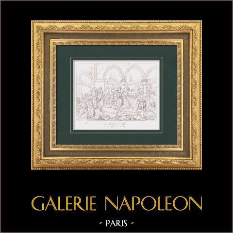 Napoleon Bonaparte Odwiedza Szpital dla Pestiferous w Jaffie (1799) - Wojny Napoleońskie - Kampania Napoleońska w Egipcie |