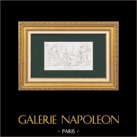Pokój Pressburg - Napoleon i - Nisko Opustoszałość - arc de Triomphe du Carrousel w Paryżu (Lesueur) |
