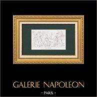 Traité de Presbourg - Napoléon Ier - Bas-relief de l'Arc de triomphe du Carrousel à Paris (Lesueur)