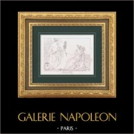 Allegory - History and Peace - Low-relief - Marbel (Petitot)