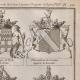 DETAILS 04 | Heraldry - Coat of Arms - Escutcheon - Encyclopédie Méthodique - Diderot's Encyclopédie - Pl.22