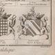 DETAILS 08 | Heraldry - Coat of Arms - Escutcheon - Encyclopédie Méthodique - Diderot's Encyclopédie - Pl.22