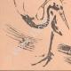 DETAILS 03   Japanese art - Sketch - Squirrel and Crane (Tatshibana-Morikouni)