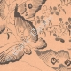 DETAILS 04 | Japanese art - Technical drawings - Butterflies and Flowers