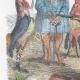 DÉTAILS 02   Vie Privée et Publique des Animaux - Contes Satiriques - Caricature - Duel - Bois de Boulogne - Lapin - Coq - Taureau - Chien