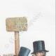 DÉTAILS 03   Vie Privée et Publique des Animaux - Contes Satiriques - Caricature - Duel - Bois de Boulogne - Lapin - Coq - Taureau - Chien