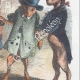 DÉTAILS 04   Vie Privée et Publique des Animaux - Contes Satiriques - Caricature - Duel - Bois de Boulogne - Lapin - Coq - Taureau - Chien