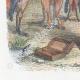 DÉTAILS 05   Vie Privée et Publique des Animaux - Contes Satiriques - Caricature - Duel - Bois de Boulogne - Lapin - Coq - Taureau - Chien