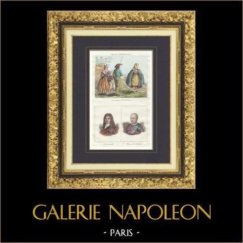 Frans Regionale Kostuums - Creuse - Portretten van Quinault (1635-1688) - Pierre d'Aubusson (1423-1503) |