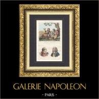 Costumes Régionaux Français - Côtes-du-Nord - Moissonneurs - Portraits - Charles Pinot Duclos (1704-1772) - La Bourdonnais (1699-1753)