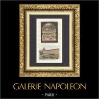 Palais Brongniart - Palais de la Bourse in Paris - Port Saint Nicolas - Pont du Carrousel - Paris