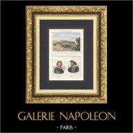 Collège de la Marine - Angoulême (Charente - Francia) - Retratos - Honoré de Balzac (1799-1850) - Francisco I (1494-1547)