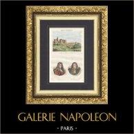 Castle of Fère-en-Tardenois (Aisne - France) - Portraits - Jean Racine (1639-1699) - Jean de La Fontaine (1621-1695)