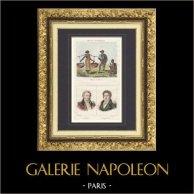 Costumes Régionaux Français - Antilles - Esclaves Nègres - Portraits - Guillaume Guillon Lethière (1760-1832) - Vincent Campenon (1772-1843)