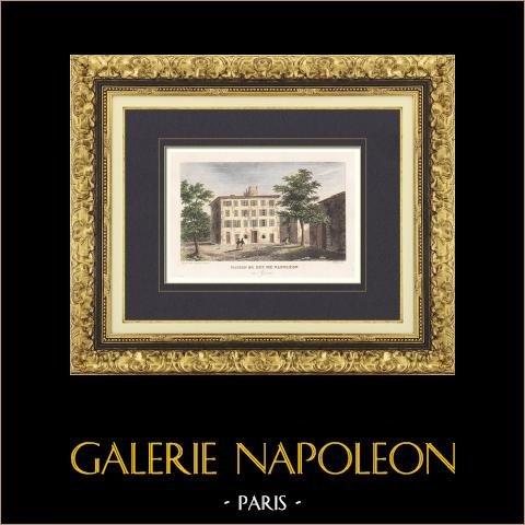 Widok Ajaccio - dom Napoleona (Corse-du-sud - Francja) |