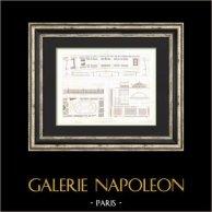 Architektenzeichnung - Paris - Projets de Halles Centrales (MM Nicolle, Duval, Horeau)