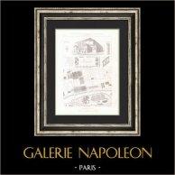 Dibujo de Arquitecto - Paris - Projets de Halles Centrales