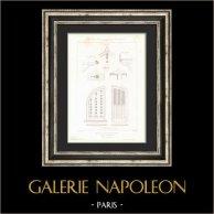 Dessin d'Architecte - Maison du Garde-Jardinier - Marly-le-Roi - Yvelines (M. Nicolle Architecte) - Détails