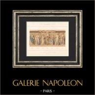 French painting - XIIIth Century - Altarpiece - Saint-Germer Chapel - Saint-Germer-de-Fly - Oise - France (E. Boeswillwald)