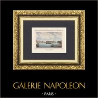Veduta di Parigi - Ponti di Parigi - Pont-Neuf - Pont des Arts (Francia) | Stampa calcografica originale a bulino su acciaio disegnata da Rauch, incisa da Nyon jeune. Acquerellata a mano. 1838
