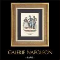 Soldat Napoléonien - Uniforme - Garde Impériale - Vivandière - Soldat du Train des Equipages